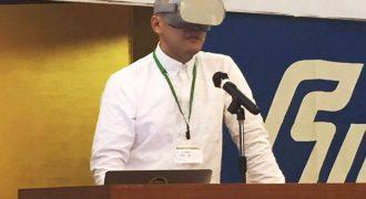 オキュラスリフトをつけた男が石川県農業青年大会に