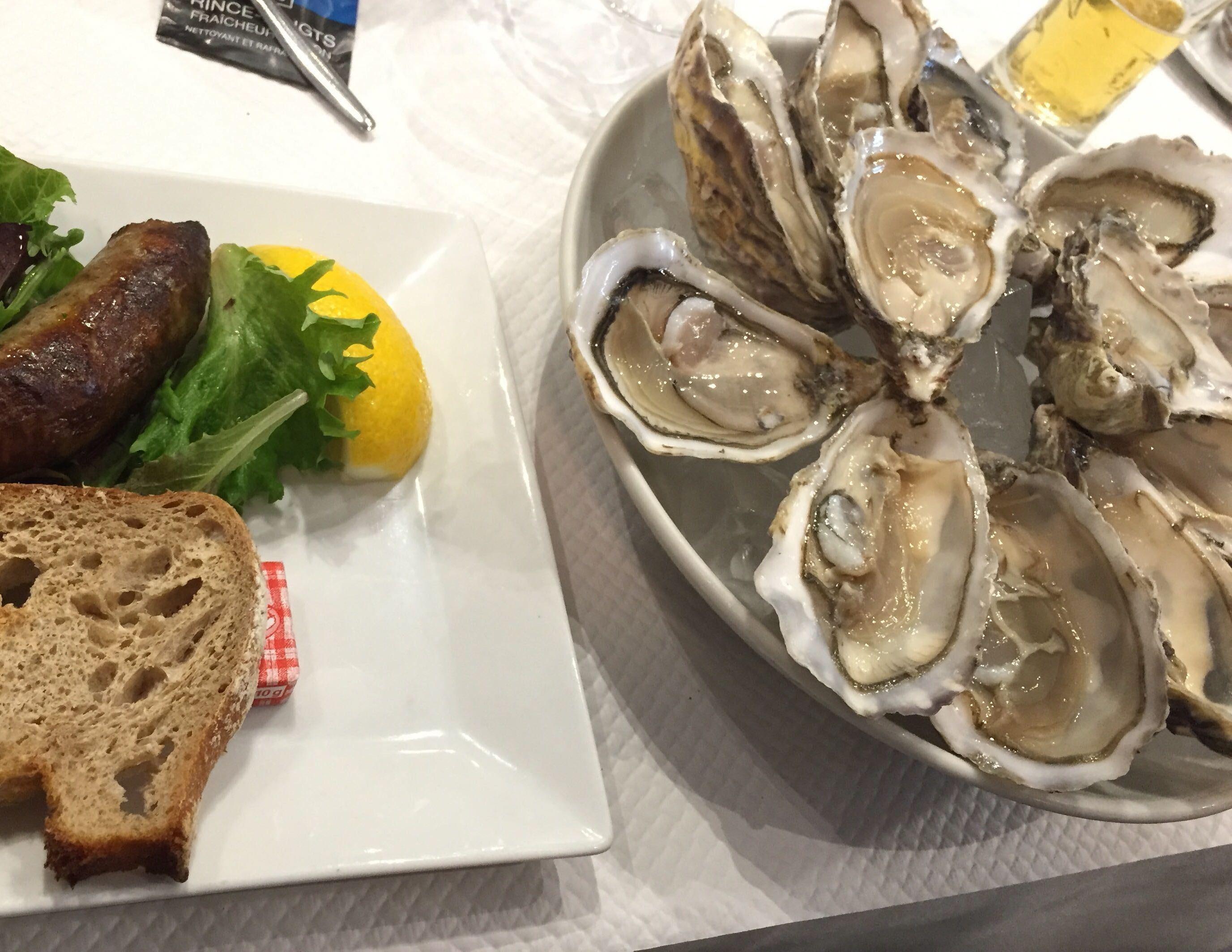 ボルドーで出された生牡蠣