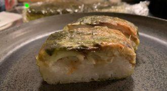 石川県金沢玉寿司の焼鯖寿司