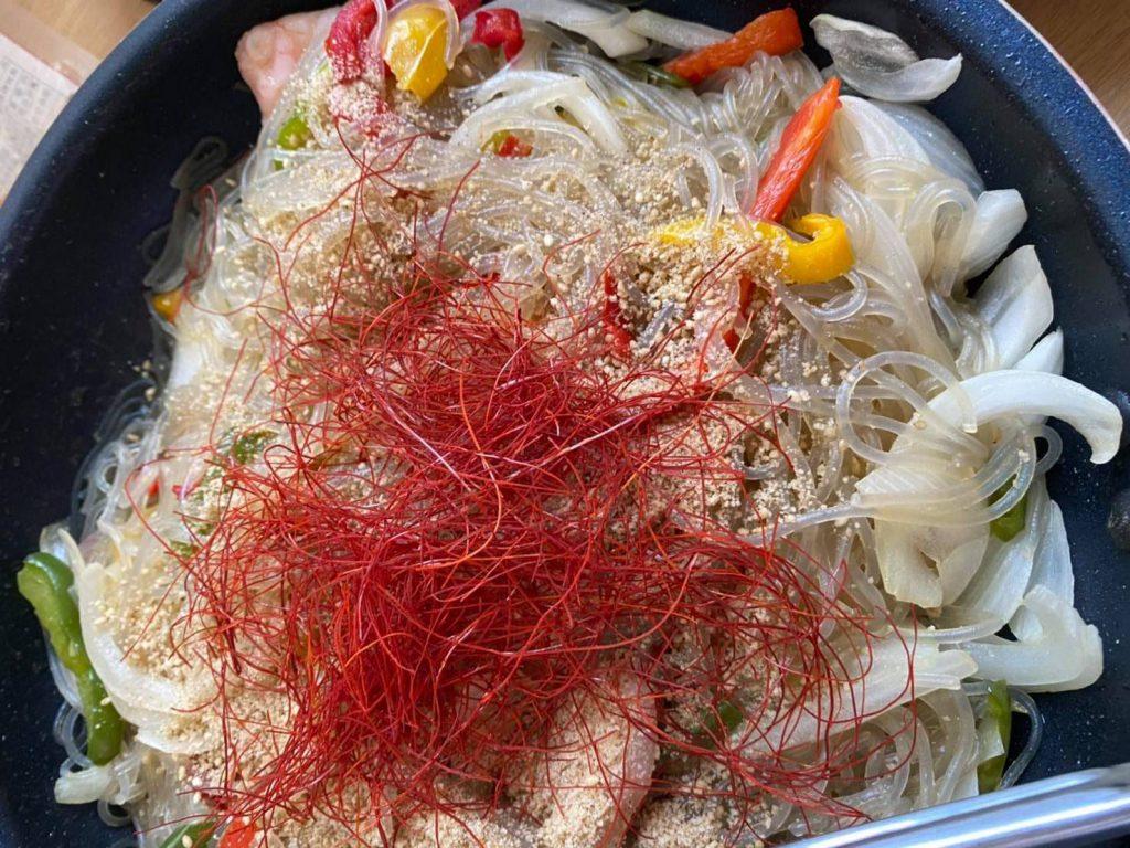 夏野菜のチャプチェ