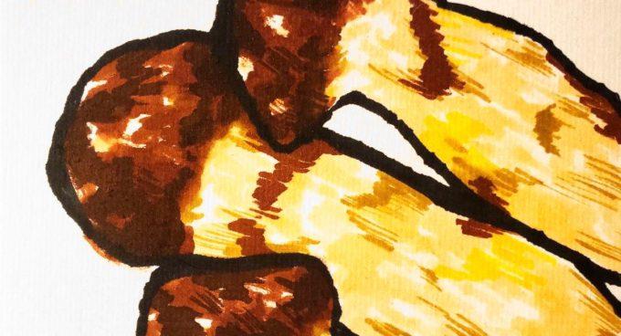 松茸のイラスト