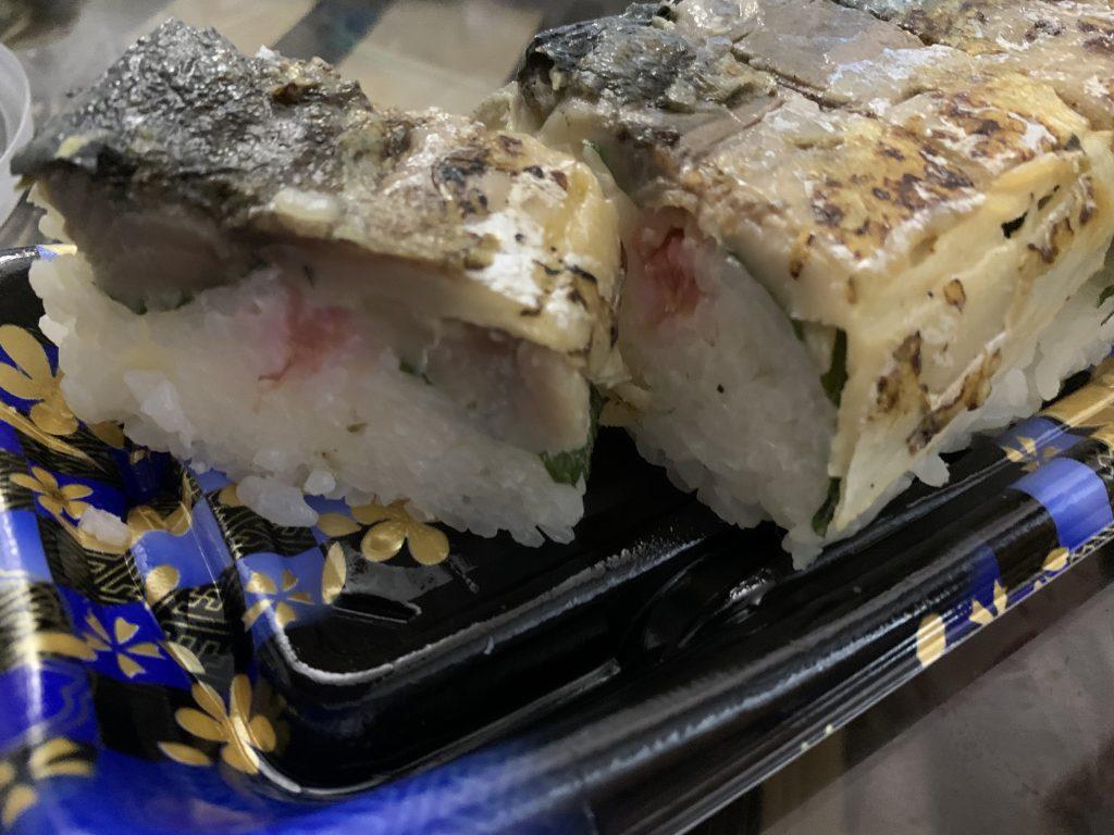 金沢駅百番街の炙り〆さば寿司